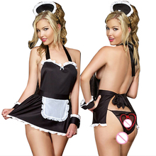 Buy Summer style sexy lingerie hot hat+costumes+t-pant maid sexy costumes erotic lingerie babydoll sexy underwear sex products porn