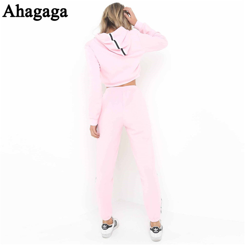 Women's Tracksuits Set, Casual Hooded Sweatsuit Set 24