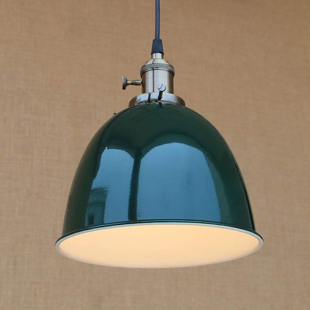 4 color Loft modern Industrial hanging pendant lamp vintage E27 LED lights with switch For Kitchen bar coffee light fixtures<br>