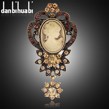 danbihuabi 2017 NEW Vintage Brooch pins Elegant Beauty broche jewelry fashion rhinestone brooches for women danbihuabi brand