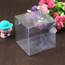 50pcs 8*8*8cm clear plastic pvc box packing boxes for gifts/chocolate/candy/cosmetic/crafts square transparent pvc Box
