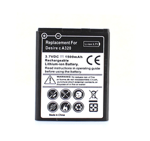 Guaranteed 100% For HTC Desire c A320 G26 1500mAh Moblie Cell Phone Battery Commercial Business Rechargeable Replacement Bateria