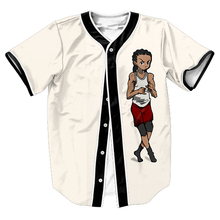 Man Challenge Riley Jersey Hip Hop Streetwear Buttons Overshirt Baseball Jersey Mens Short Sleeve Shirts Tops Tees