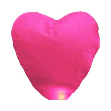 10Pcs/set Love Heart Sky Lantern Flying Wishing Lamp Hot Air Balloon Kongming Lantern Party Favors For Birthday Party pink