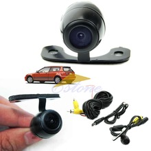 QILEJVS 12V 170degree Mini Color CCD Reverse Backup Car Rear Front View Camera Night Vision