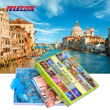 TELECOOL 1000 PCS Wooden Puzzle Jigsaw Puzzle Venice Scenery Kids DIY Fun Children Educational Toy