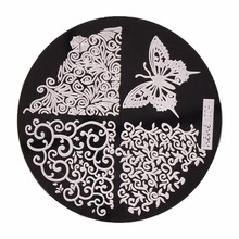 1pc 36 Designs Available Biutee Stamping Plate Lace Starfish & Shell Negative Space Leaves Flowers Animals Nail Template