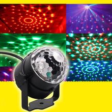 Led Light Fashion Mini RGB LED Party Disco Club DJ Light Crystal Magic Ball Effect Stage Lighting    CLH