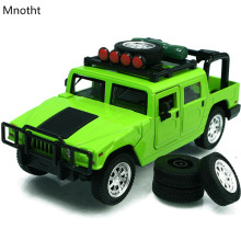 Hummer H1 Suvs 1:32 Car Diecast MODEL Back To Audible Visible Simulation Alloy Pull Back Musical Sounds Light Car Model Toy L60(China)