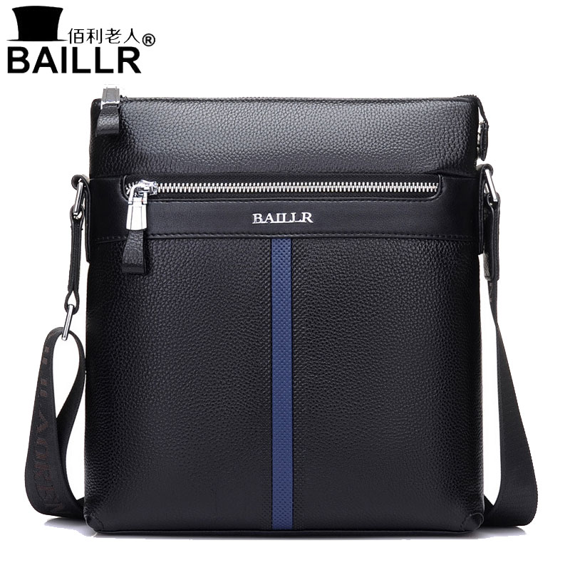 BAILLR Brand Genuine Leather High Quality Business Mens Bag Messenger Bags Men Leather Crossbody Shoulder Bag Men Travel Bags<br>
