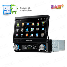 "7"" Universal Android Single One 1 Din Car DVD DAB+ Radio GPS Touch Screen Audio Detachable Panel OBD2 Bluetooth 3G SD RDS Stereo"