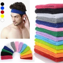 NEW Popular Women Men Color Sport Sweat Band Sweatband Headband Hair Band Yoga Band(China)
