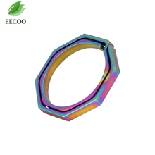 EDC Colorful Titanium Alloy Carabiner Climbing buckle Keyring Quickdraw Pocket Ring Quick Release Keychain Hiking Travel Kit