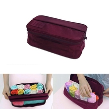 Factory price Sorting Bag Multi-function Travel Pouch For Socks Underwear Wine Red