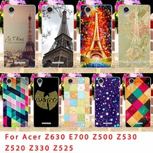 Soft TPU Phone Case For Acer Liquid Z630 Z 630 Z630S E700 Z500 Z520 Z530 Z525 Z530S Z330 Eiffel Tower Back Covers Housing Sheath
