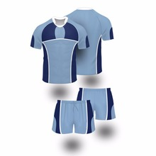 2017 Blue color custom sublimation rugby Jerseys uniforms for men or women(China)