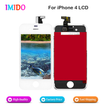 1PCS Top Quality LCD for Iphone 4  Screen Digitizer LCD Assembly black and white Display With free tools