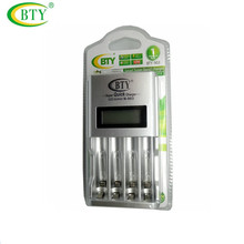 BTY N903 universal battery charger Smart Rapid LCD AA AAA Ni-MH Ni-Cd Rechargeable Battery Charger(without battery)