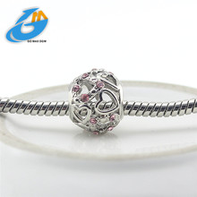 Fits Pandora Charm Bracelet DIY silver plating Hollow out love Bead Women Jewelry Free Shipping drop-shipping