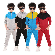 Retail Childrens Tracksuit for Boys Hooded Coat Long Pants 2Pcs Boys Sport Suits Spring Autumn Casual Kids Teens Toddler Clothes(China)