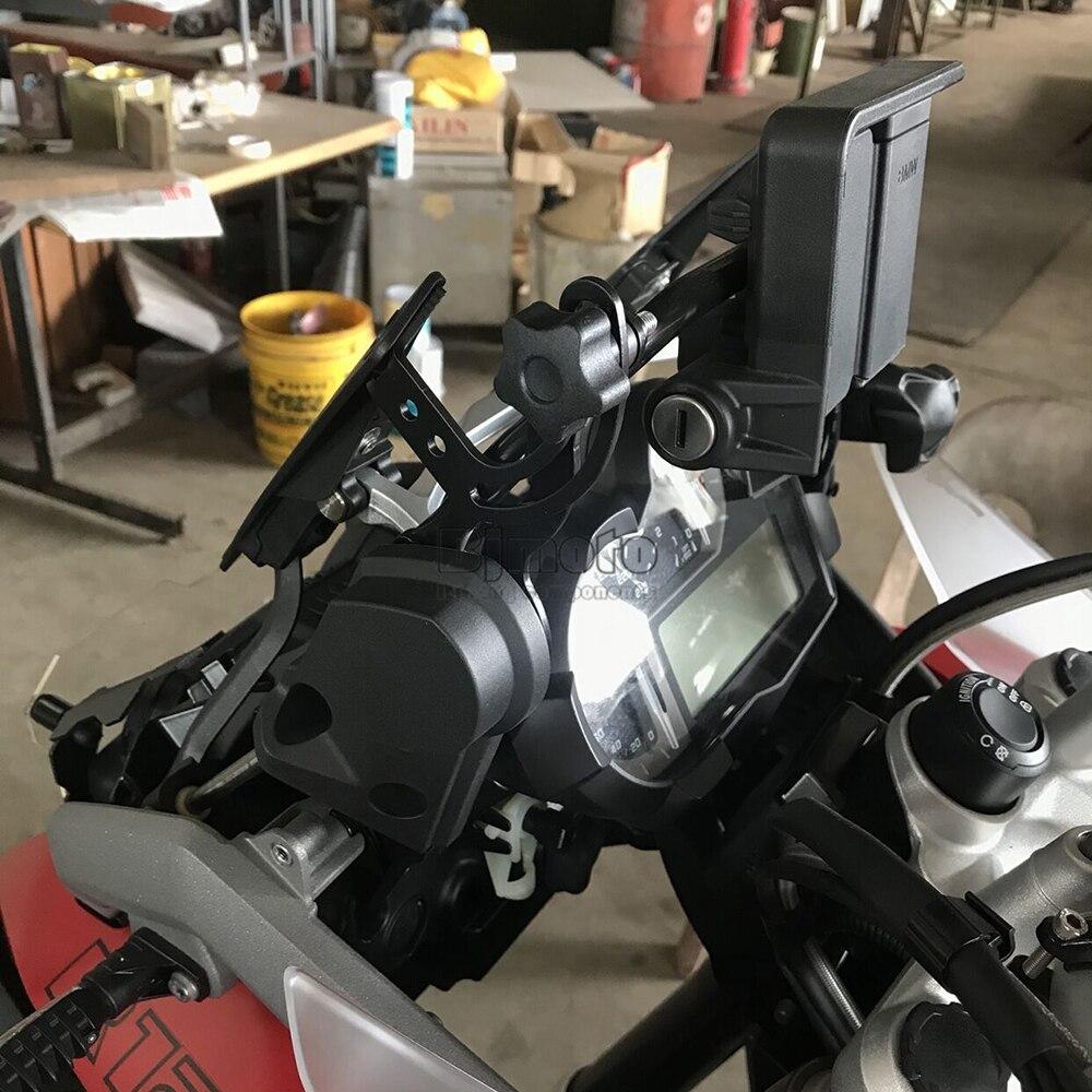 Titanium ampliador de extensi/ón para B.M.W R1200GS LC//ADV 2013-2018 R1200GS Rallye 2016-2018 R1250GS 2018 de Alta versi/ón YSMOTO Soporte Lateral para Motocicleta