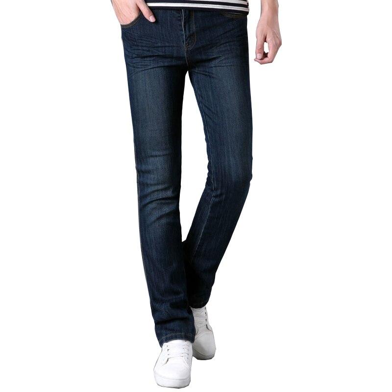 Free Shipping Mens Business Casual Jeans Male Mid Waist Elastic Slim Boot Cut Semi-flared Four Seasons Bell Bottom Jeans 28-34Îäåæäà è àêñåññóàðû<br><br>