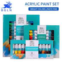 Winsor&Newton  12/18/24 Colors Acrylic Paints Set  Hand Painted Wall Drawing Painting Pigment Set Art Supplies