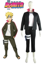 Free Shipping Boruto: Naruto the Movie Uzumaki Boruto Sweater Anime Cosoplay Costume/Cosplay Wig