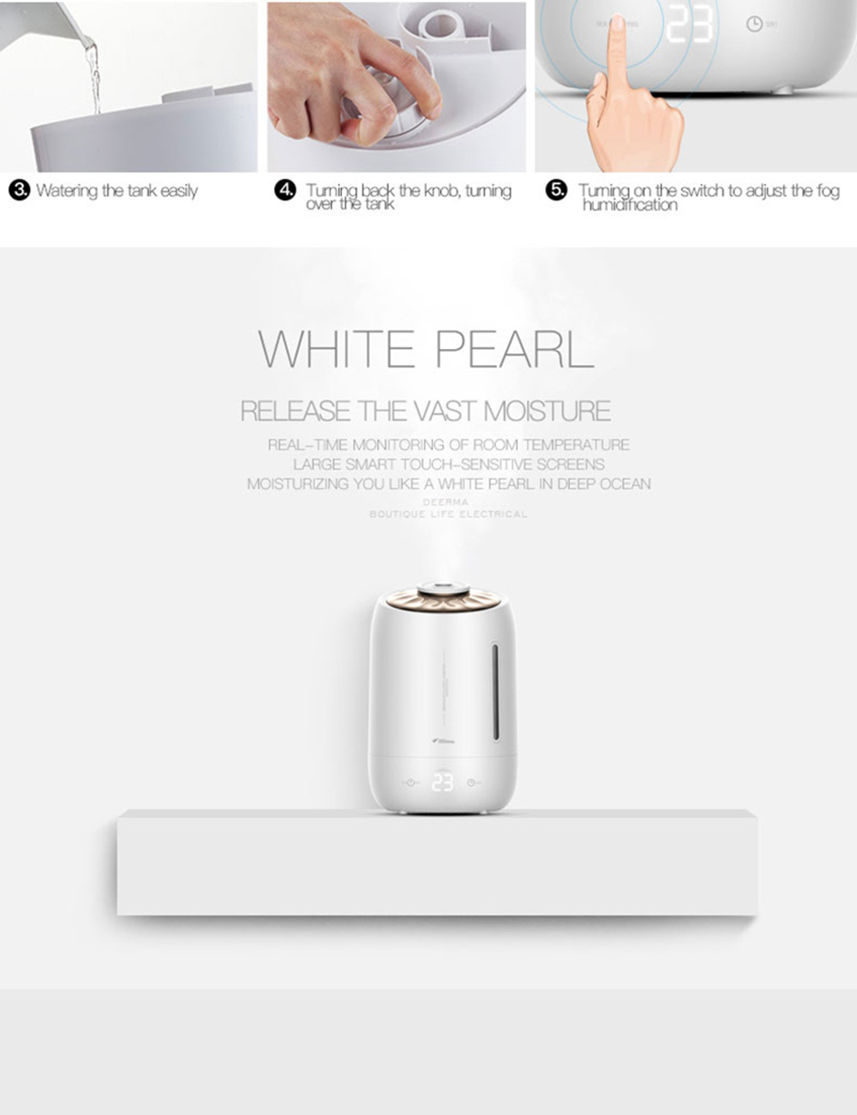 Xiaomi Mijia deerma 5L Air Home Ultrasonic Humidifier Touch Version Air Purifying for Air-conditioned rooms Office household D5 (15)