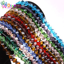 OlingArt AAA 8mm 60Pcs Mixed color Faceted Helix/Twist Glass Crystal Beads Rondelle Spacer Bead Craft DIY choker jewelry making