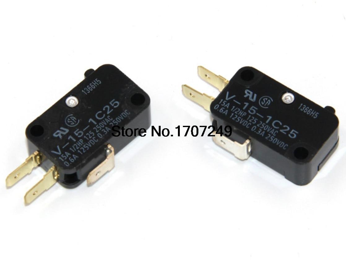 LOT OF 10PCS NEW V-156-1C25 MICRO SWITCH 15 AMP