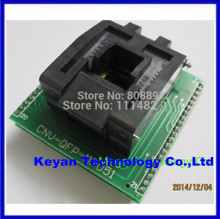 Free shipping CHIP PROGRAMMER SOCKET TQFP44 QFP44/ PQFP44 TO DIP40 adapter socket support MPU-51 chip(China)