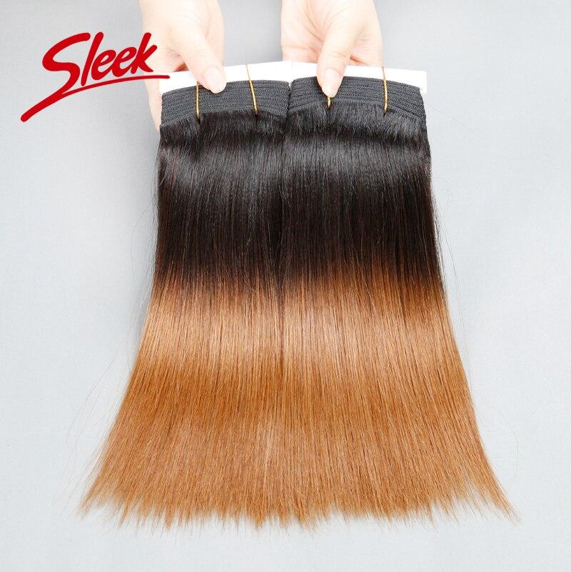Sleek Brazilian Virgin Hair Straight 10 12 14 18 Ombre Human Hair Weave Thick End Human Hair Bundles 226g/set<br><br>Aliexpress