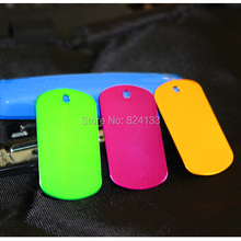 Small Wholesale Blank Dog Tags Military,Dog Pet Tags Aluminum,Free Shipping Id Tags(China)