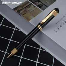 hot sell Black pen barrel gold wheel holder ballpoint pen luxury MONTE MOUNT pens for writing office supplies