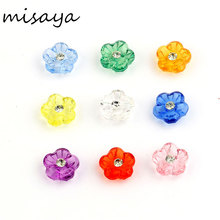 Misaya 2 Holes 100pcs Mixed Resin Round Flower Pattern Scrapbook Craft Buttons Mix Garment Botoes Accessories(China)