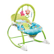 Green Color Multifunctional Baby Rocking Chair Electric Baby Bouncer Swing Toddler Rocker Infant Cradle Crib(China)