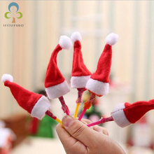 20pcs/lot Christmas cap lollipop small Christmas hat creative Christmas ornament baby gift LYQ(China)