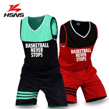Custom LOGO Name Numbers Boy Basketball Team Suit Male Basketball Set Jersey Double-sided Sportwear Clothing DIY Training Set
