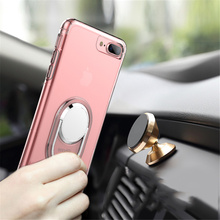 Wellendorff Silicone Case for iPhone 7 6 6S Plus 6plus 6splus 7plus Car Holder Stand Magnetic Suction Bracket Finger Ring Cover