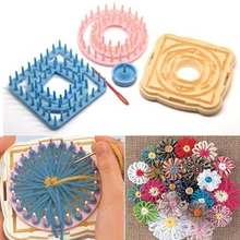 9Pcs/set Flower Loom Petals Knitting Crochet Yarn Needle Needlework Sewing Tool(China)