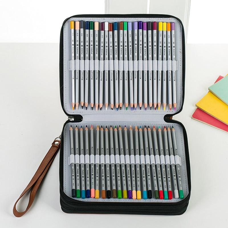 pencil case 124 holes estuches para lapices school supplies papelaria material escolar trousse scolaire stylo PU bags pencilcase<br><br>Aliexpress