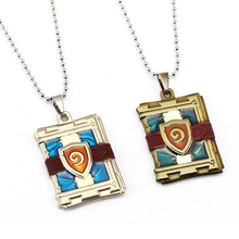 ORP Game products Hearthstone Heroes of Warcraft Logo necklace WOW Champion's card pack necklace pendant accessories wholesale(China)