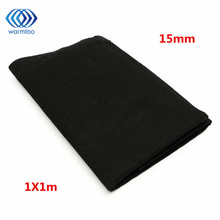 1m x 1m Thickness 10mm/15mm Home Fabric Black Air Conditioner Activated Carbon HEPA Air Purifiers Accessories Purifier Filter(China)