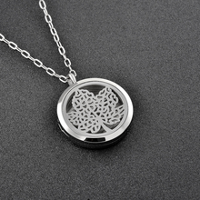 IJP0149 Hot Selling Women's Perfume Locket Aromatherapy/Essential Oils Stainless Steel Diffuser Locket Necklace Pendant Jewelry