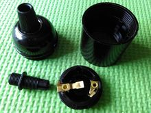 E27 bakelite lampholder e27 black lamp socket e27 pendant light bulb holder 50 pcs /lot(China)