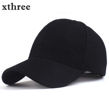 Xthree solid men's wool baseball cap winter cap warm bone snapback hat gorras fitted hats for women(China)