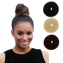 1PC Plate Hair Donut Black Nylon Sponge Taenia Headbands Hair Donut Hairdisk Device Quick Messy Bun Hairstyle accessories Hats