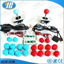 Free shipping PC/PS2/PS3/XBOX360 for windows 4 in 1 USB Encoder+ 4way Arcade Joystick+ SANWA 30&24mm Push Button+cable for PCB