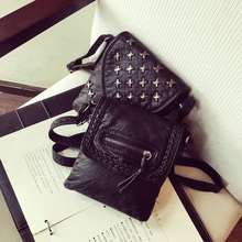 Vintage Small bags Women Soft PU Leather Mini rivet Handbag Designer Crossbody Handbags Ladies Hand Bags Cheap Female Clutch(China)